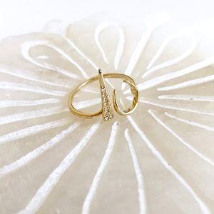L u v AJ • Open Crescent Ring